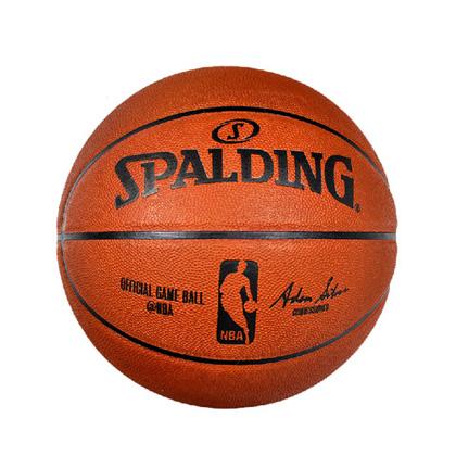 斯伯丁真皮室内比赛篮球 Spalding篮球(74-569Y )NBA职业比赛用球