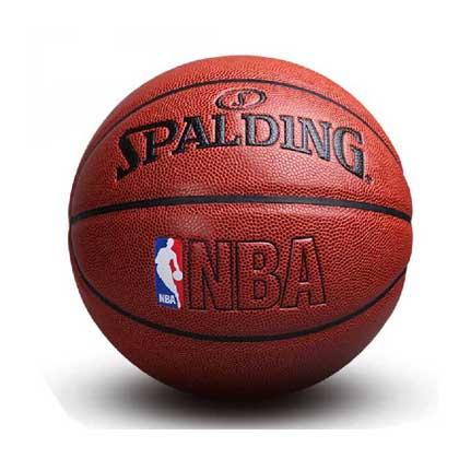 斯伯丁NBA经典系列 彩色运球小人 NBA篮球 74-601Y 经典比赛球