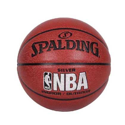 斯伯丁NBA 银色经典篮球 Spalding篮球 74-608Y 经典复合软PU 手感超强