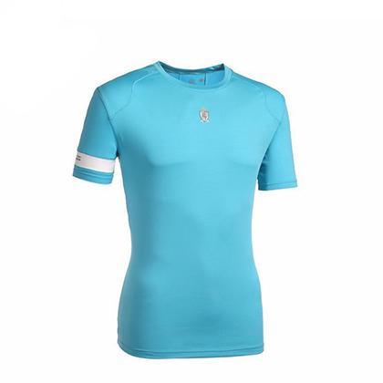 ST TRAIL TEE 男款 湖蓝色跑步T恤