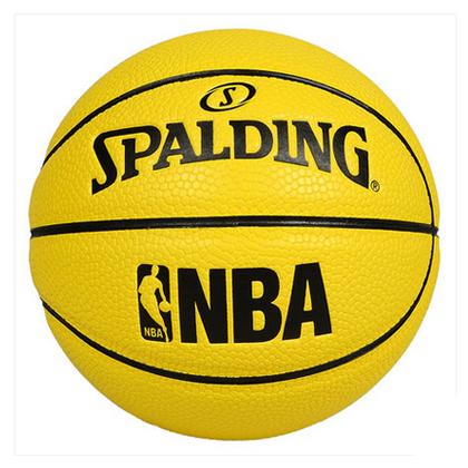 斯伯丁Spalding NBA黄色 1号球 65-848Y 舒适手感