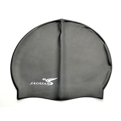 捷佳SC208黑色硅胶泳帽(SC系列泳帽,纯色经典,超低价格,游泳必备单品)