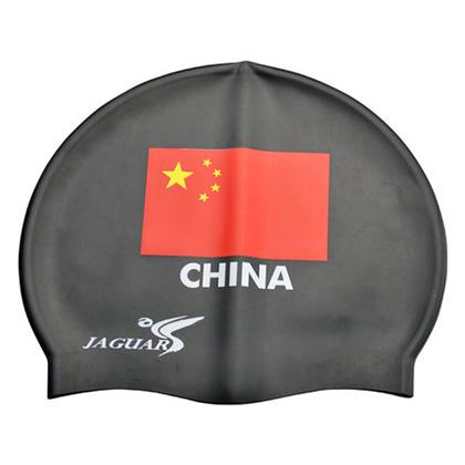 捷佳CP200B国旗印花黑色泳帽(简约时尚,超高性价比,彰显爱国范儿)