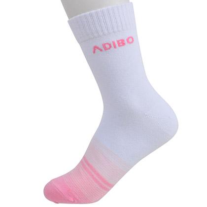 Adibo艾迪宝B16-09女款粉色羽毛球袜(透气吸汗,运动必备!)