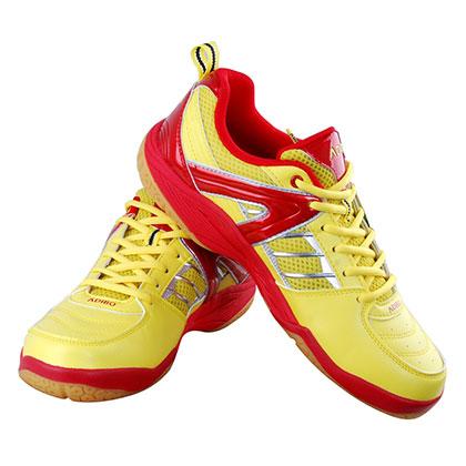 ADIBO艾迪宝S100黄色羽毛球鞋(炫亮夺目,超强耐磨,激发无限潜能)