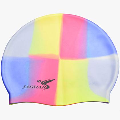 捷佳MC104多彩硅胶泳帽 6岁以上儿童泳帽(MC系列泳帽,时尚炫色,超低价格,游泳必备单品)