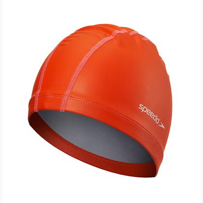 Speedo速比涛成人泳帽11400725橘红色(国家游泳队专用品牌)