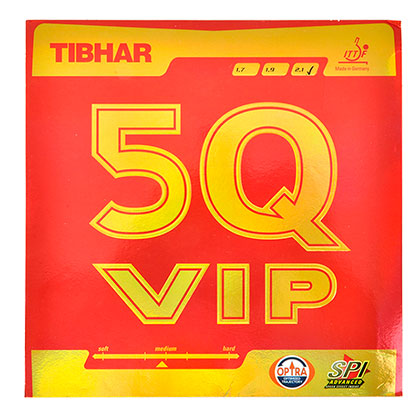 挺拔TIBHAR 5QVIP 乒乓反胶套胶(旋转出色,更强弧线,享受击球快感)