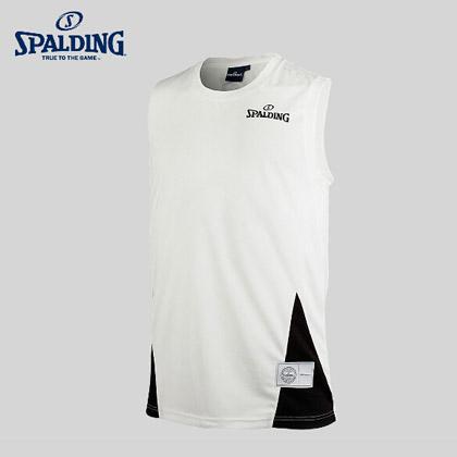 斯伯丁Spalding20023-02白色篮球上衣篮球无袖背心(实战经典背心)
