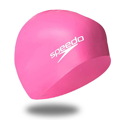 Speedo速比涛11461933鲜粉色青少年泳帽(Young配色,少年儿童的真爱)