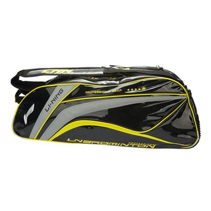 李宁羽毛球包 ABJK034-1 九支装 黑色(国家队世锦赛专用战包,炫亮实用)