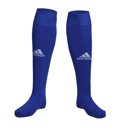 Adidas阿迪达斯 X21398 长筒过膝足球袜 专业训练足球袜 蓝色