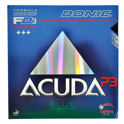多尼克DONIC Acuda Blue P3 乒乓反胶套胶,软海绵涩性套胶,适合弧圈为主的全面型打法