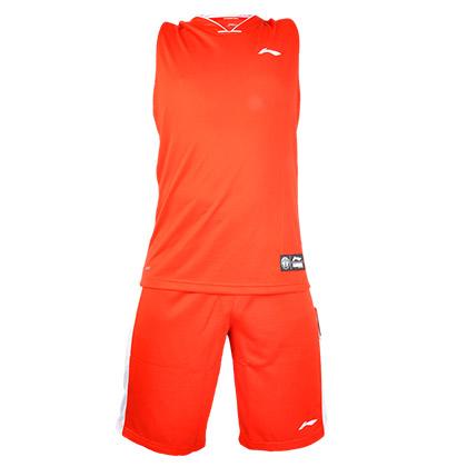 李宁篮球服套装 AATK047-3 经典红色专业篮球系列/比赛套装