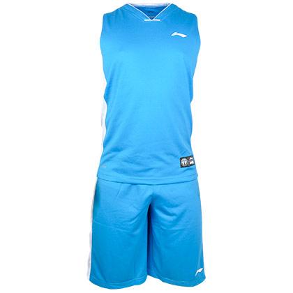李宁 AATK047-2 篮球服套装 蓝色专业篮球系列/比赛套装