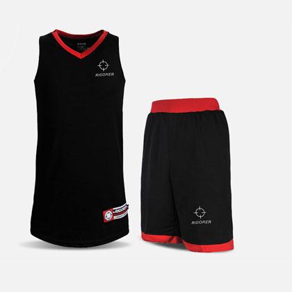 准者YX-25基础款篮球服套装 黑红色 定制款篮球服号码、印号 经典黑红色