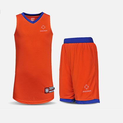 准者YX-25基础款篮球服套装 橙蓝色 定制款篮球服号码、印号 凤凰城涅槃