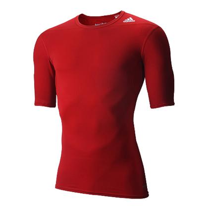 阿迪达斯 D82089 TFBASESS训练服 红色Techfit多功能运动紧身衣