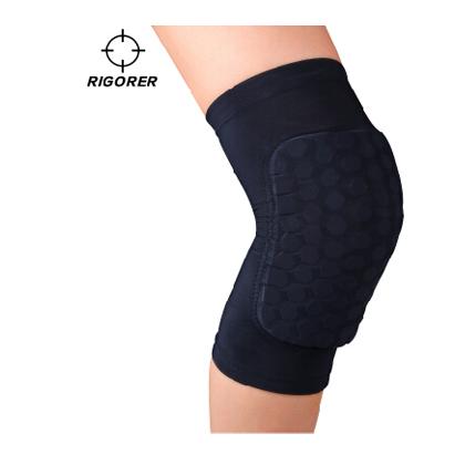 准者篮球护具 DH-6003 蜂窝防撞护膝 黑色(透气、吸汗)