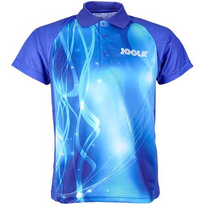 优拉JOOLA 671蓝色短袖T恤 儿童乒乓球比赛服