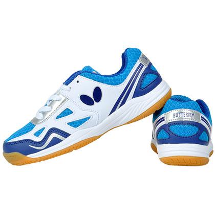 蝴蝶 CHD-1-03 蓝色儿童乒乓球鞋