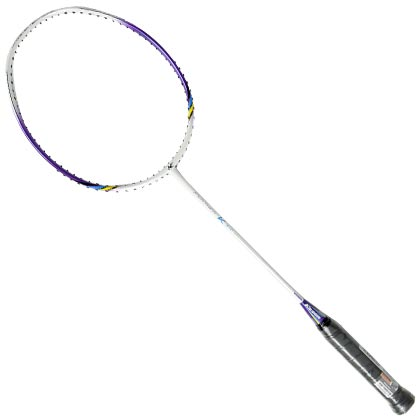 凯胜羽毛球拍 Feather K310白紫色(专属于你的超轻球拍)
