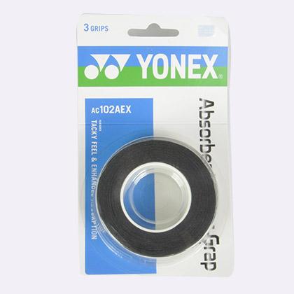 YONEX尤尼克斯AC102AEX超级拍柄手胶(黏性手感,一卡三条装)