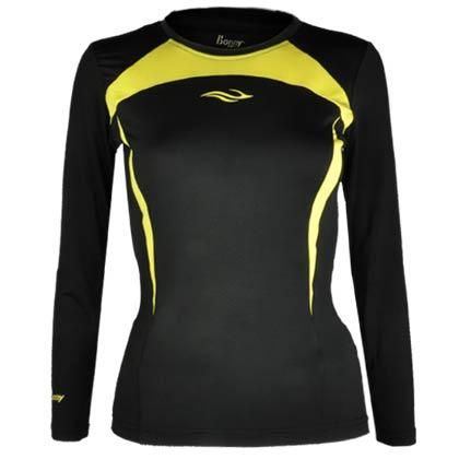 波力长袖运动T恤 1CTL13067 女款 (偏紧身设计,出色的弹性)