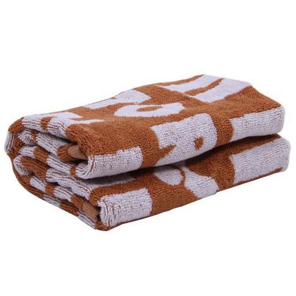 胜利VICTOR 专业运动毛巾 TW169V 棕色 纯棉材质 大毛巾 吸汗能力出众