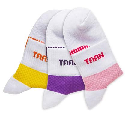 泰昂TAAN运动袜 T-131 女款 中帮(防臭、柔软、耐磨、包裹)