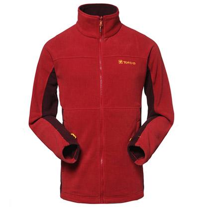 探路者TOREAD抓绒衣 TACC91283-A07A 锈红色 男款 可套穿抓绒服