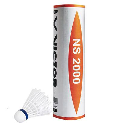 VICTOR胜利威克多NS2000尼龙球羽毛球  6只装NYLON2000(好打,耐打,实惠)