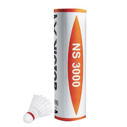 VICTOR胜利威克多NS3000尼龙球羽毛球 白色中速 6只装NYLON3000(1只顶6只!训练、娱乐就选它准没错!)