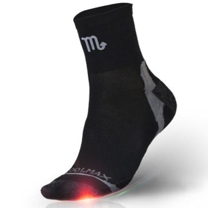 悠途十二星座排汗抗菌徒步袜951112--天蝎座 黑色(专属于你星座的袜子)