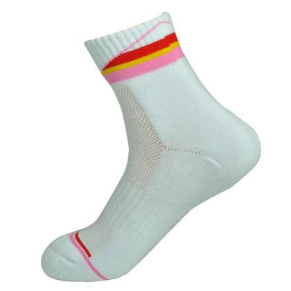 中极星运动袜 ZJ6762羽毛球袜 女款(专业、包裹、透气)