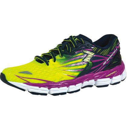 361°国际版跑步鞋 Sensation2 女款 Y751-1 夺目黄/紫色