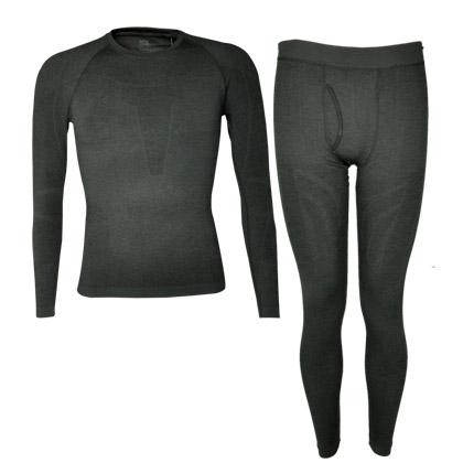 悠途UTO发热内衣套装 男款 953101 黑灰色