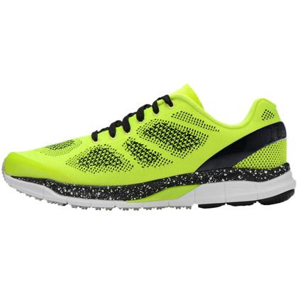 必迈Mile001一体织男款跑鞋 浅绿/黑/白(XRCA001-21120,双层缓震)