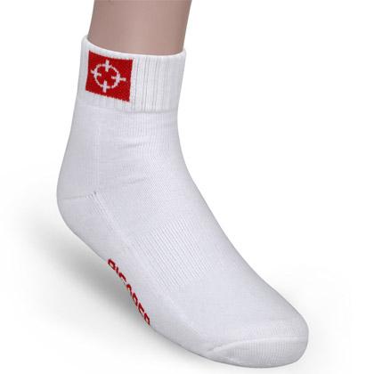 准者篮球袜 白色(W-01,全棉吸汗防臭中筒袜,均码26cm-28cm)