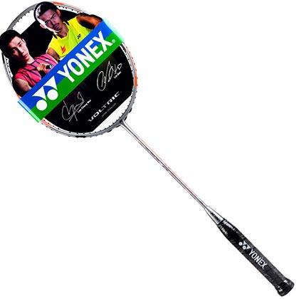【惊爆价】YONEX尤尼克斯双刃77/Duora77 羽毛球拍 红灰款(双面框型,全新中端控球利器)