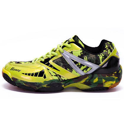 波力BONNY 羽毛球鞋舒适815G 迷彩绿,男款女款通用 尺码35-45码 (高弹透气,酷帅迷彩)