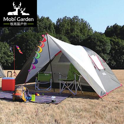 牧高笛帐篷 公园露营帐篷 家庭野外单层帐篷(公园露营系列-雅居200YG)