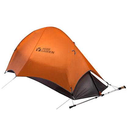 牧高笛帐篷 高端露营帐篷登山单人帐 橙色款(超轻专业系列-轻骑1)