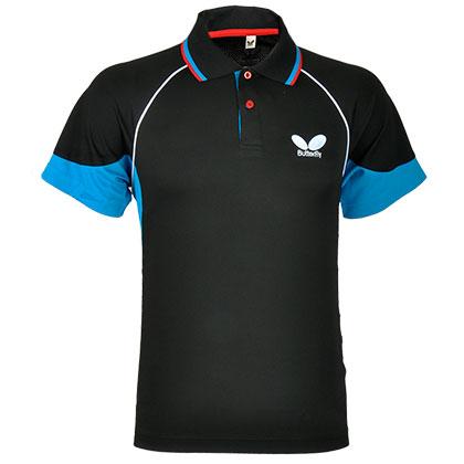 蝴蝶BUTTERFLY乒乓球服 BWH-261-0203 专业乒服 黑蓝色
