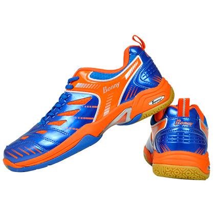 波力BONNY羽毛球鞋 舒适302专业羽毛球鞋 中性款 荧光桔/湛蓝