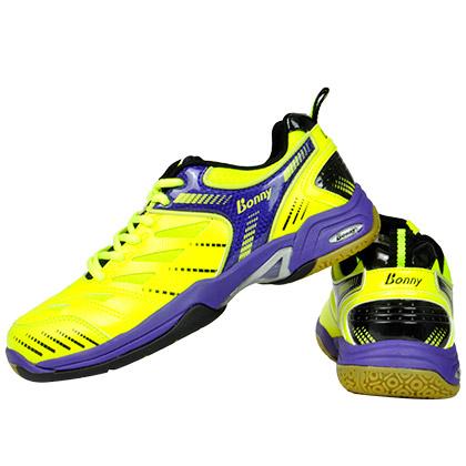 波力BONNY羽毛球鞋 舒适301专业羽毛球鞋 中性款 荧光绿/紫