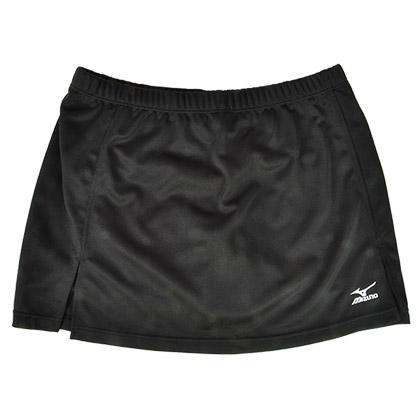 美津浓MIZUNO 72CD5251羽毛球短裙 黑色(清凉透气,舒适更排汗)