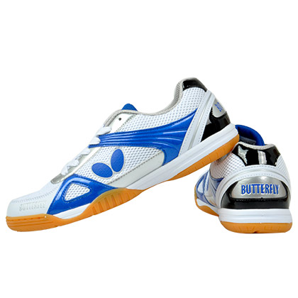 蝴蝶BUTTERFLY乒乓球鞋 UTOP-9-03 白蓝色新款专业乒鞋