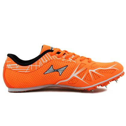 海尔斯跑钉鞋 166-1 专业跑钉鞋 亮橘色