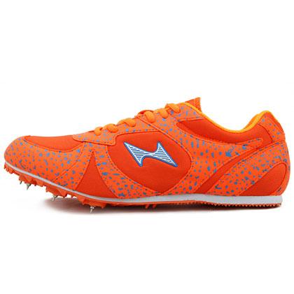 海尔斯跑钉鞋 599-1 专业跑钉鞋 亮橙色